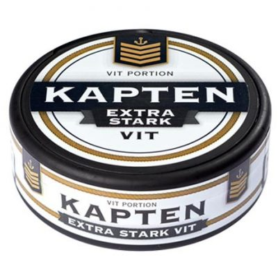 Kapten Extra Stark Vit Portion - Stock