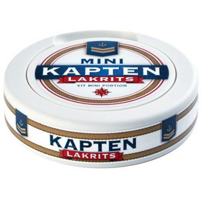 Kapten Mini Lakrits Vit Portion - Stock