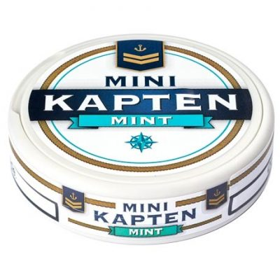 Kapten Mini Mint Vit Portion - Stock